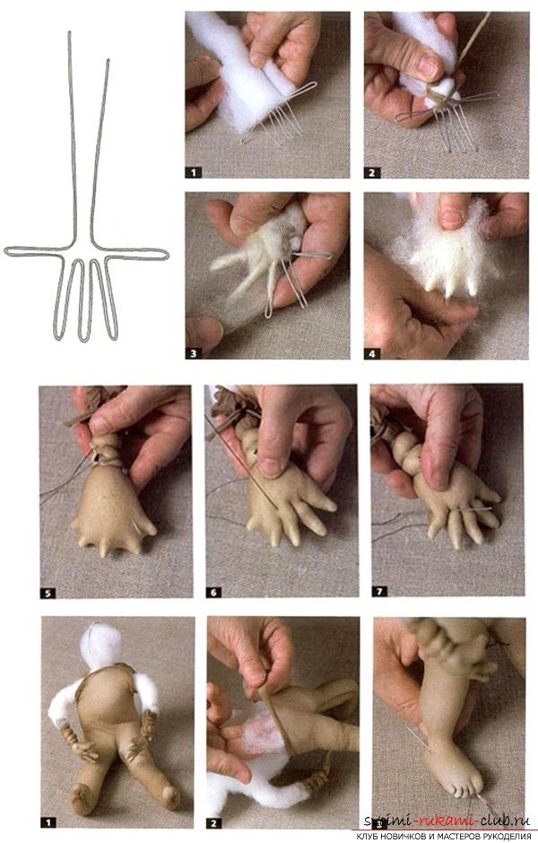 Как сделать куклу своими руками колготки