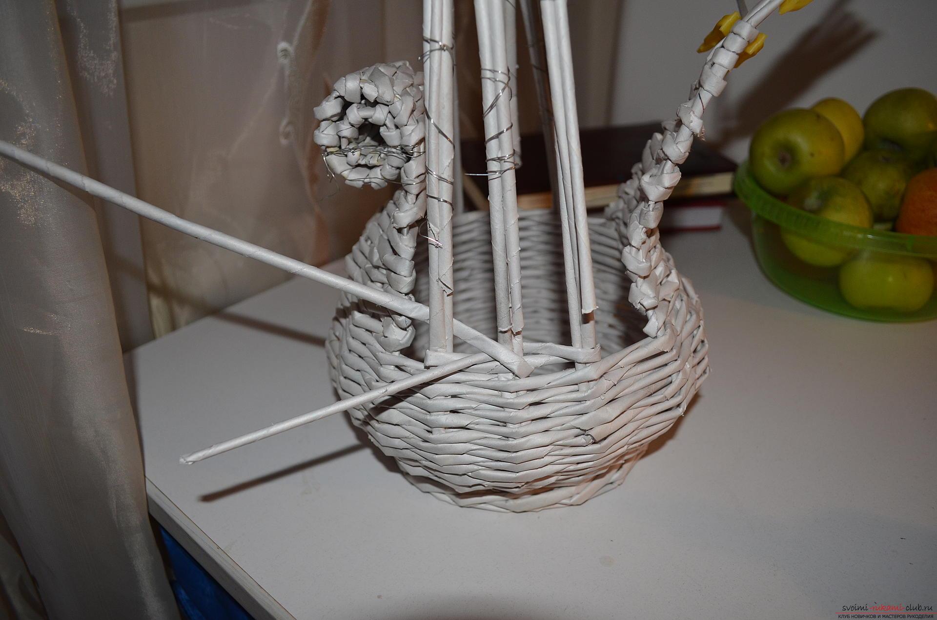 Плетение корзин пошаговое фото