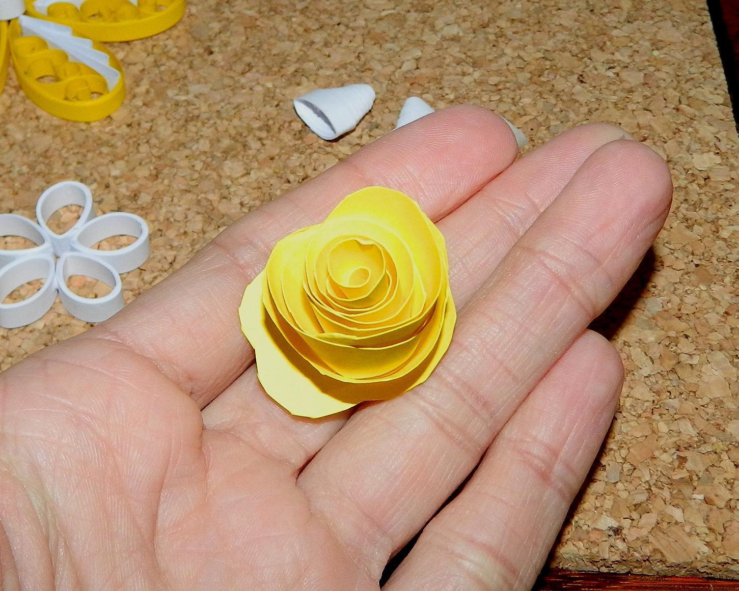 Как сделать розу для квиллинга 269