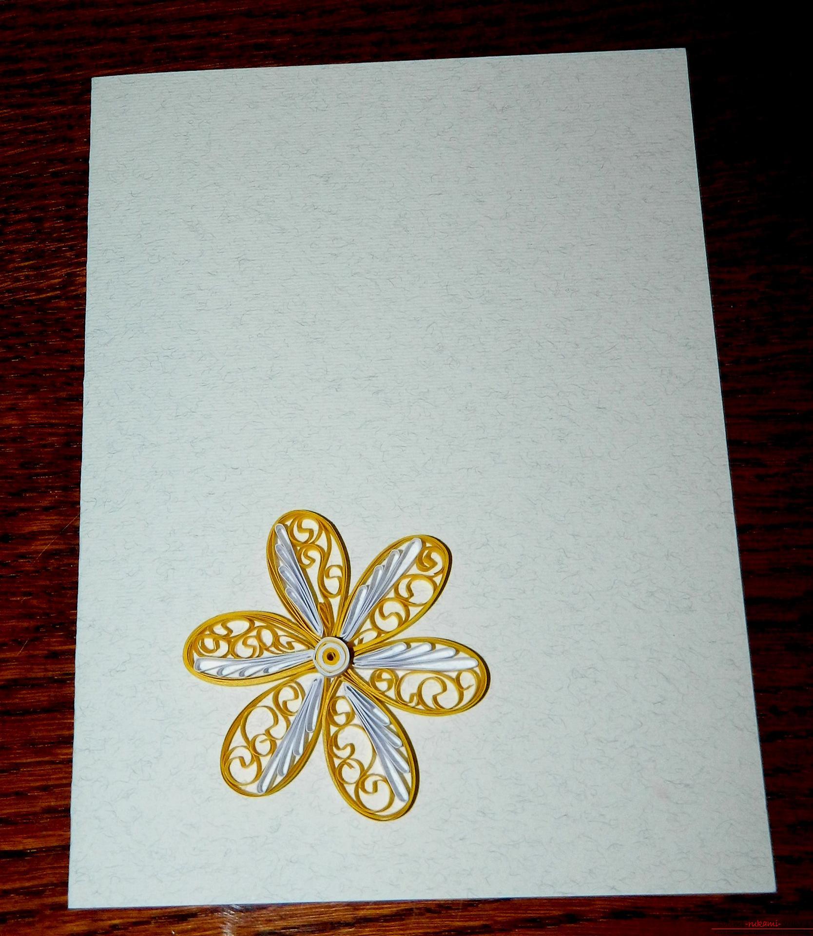 Этот подробный квиллинг мастер-класс расскажет как сделать красивую открытку своими руками.