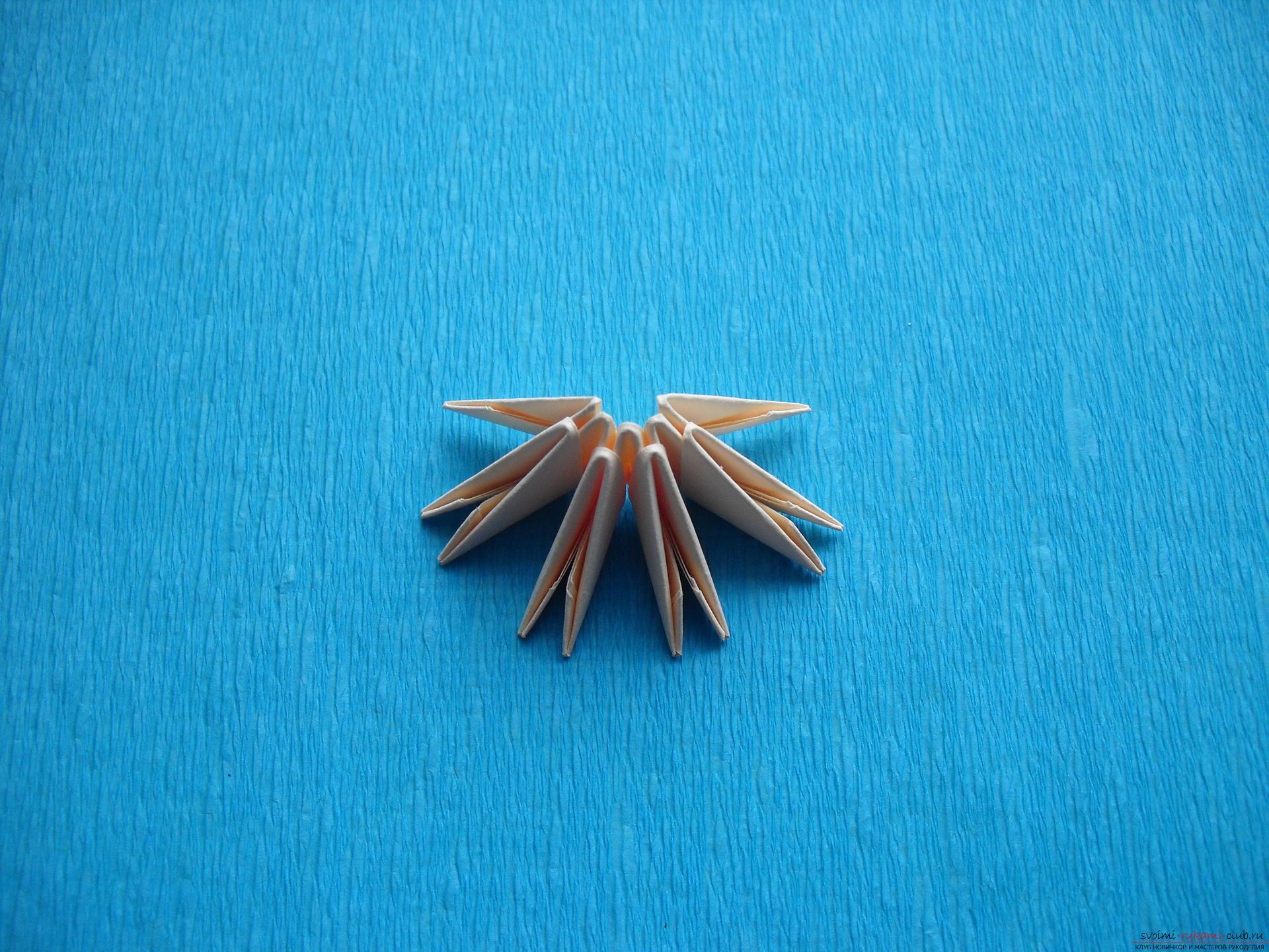 Этот мастер-класс расскажет как сделать поделку из модульных оригами - лягушку.. Фото №7