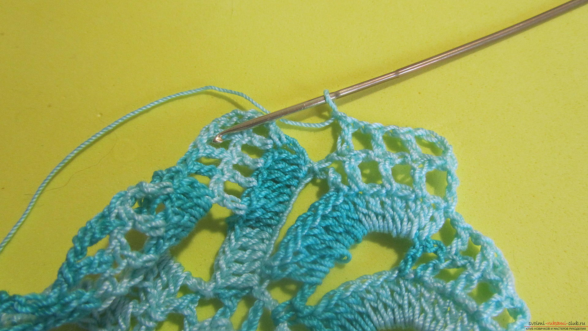 Мастер класс по вязания крючком ленточное кружево