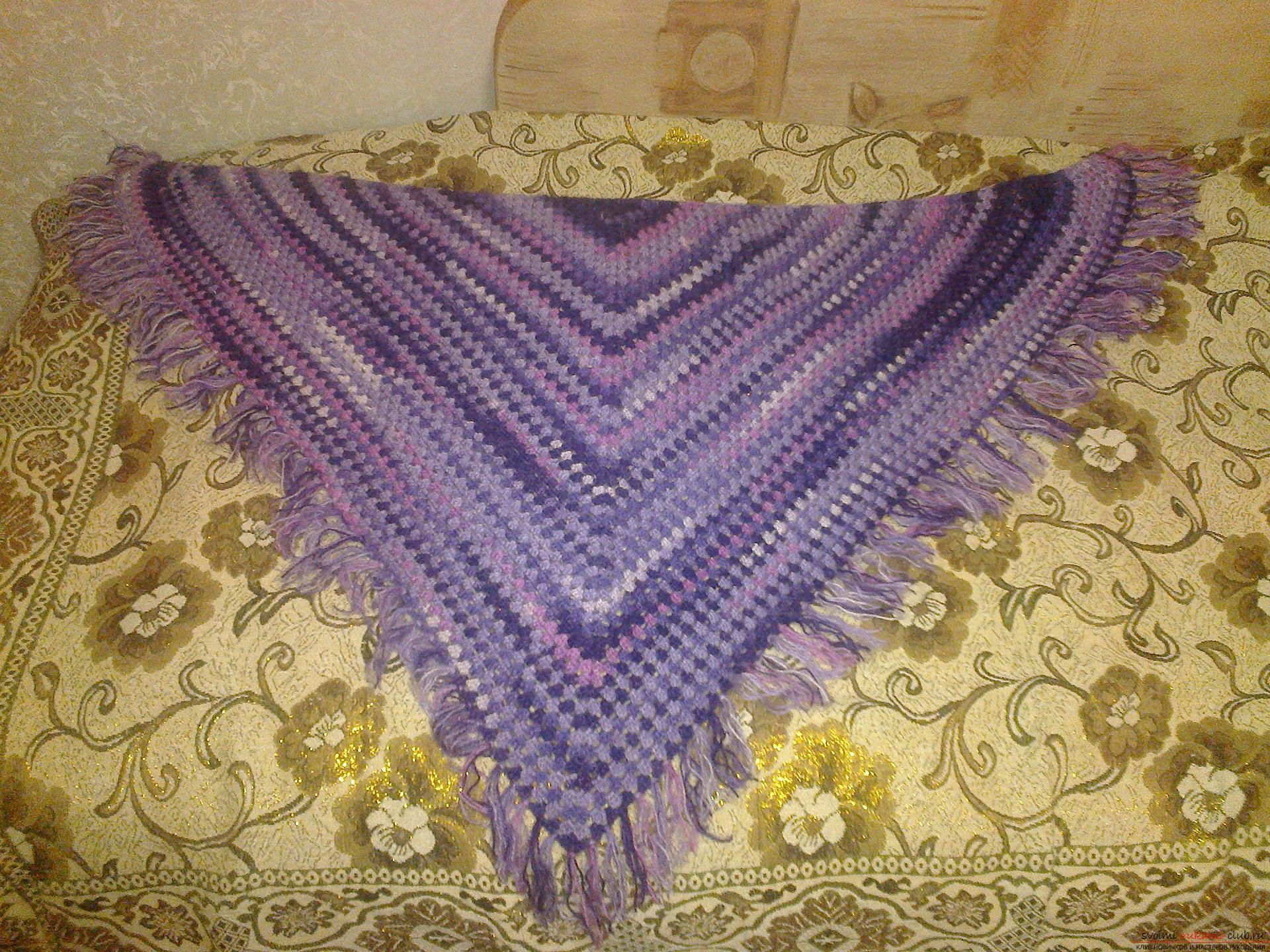 Вязание шали квадрат для шали