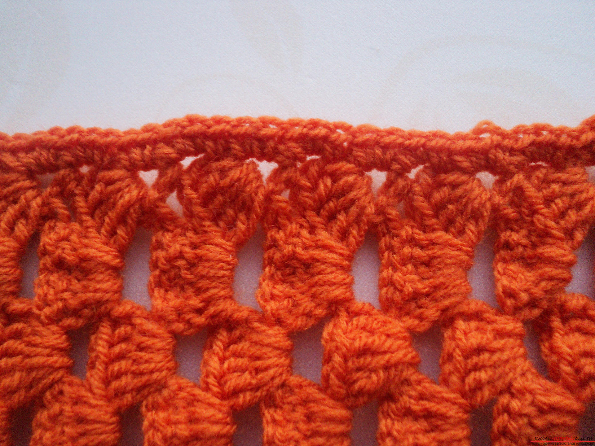 Красивые шарфы крючком фото