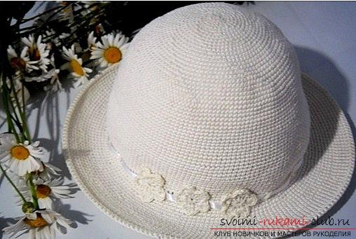 Как связать летнюю шляпку