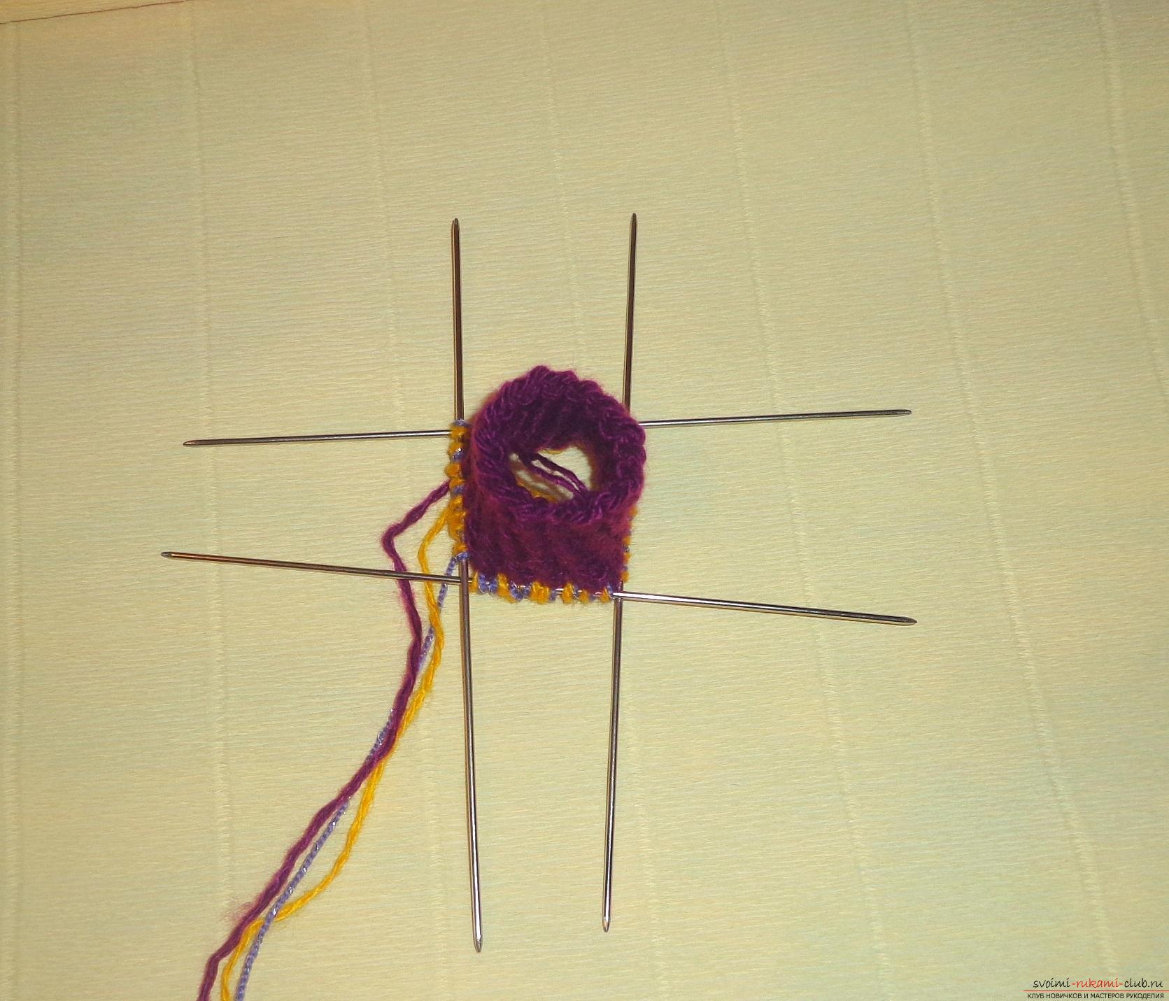 Фото к уроку по вязанию спицами детских носочков «Зимние». Фото №3