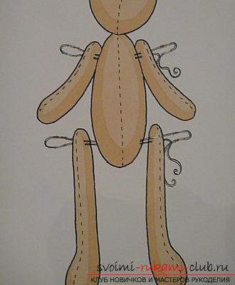 Подробный мастер-класс по шитью куклы-большеножки с пошаговыми фото. Фото №1