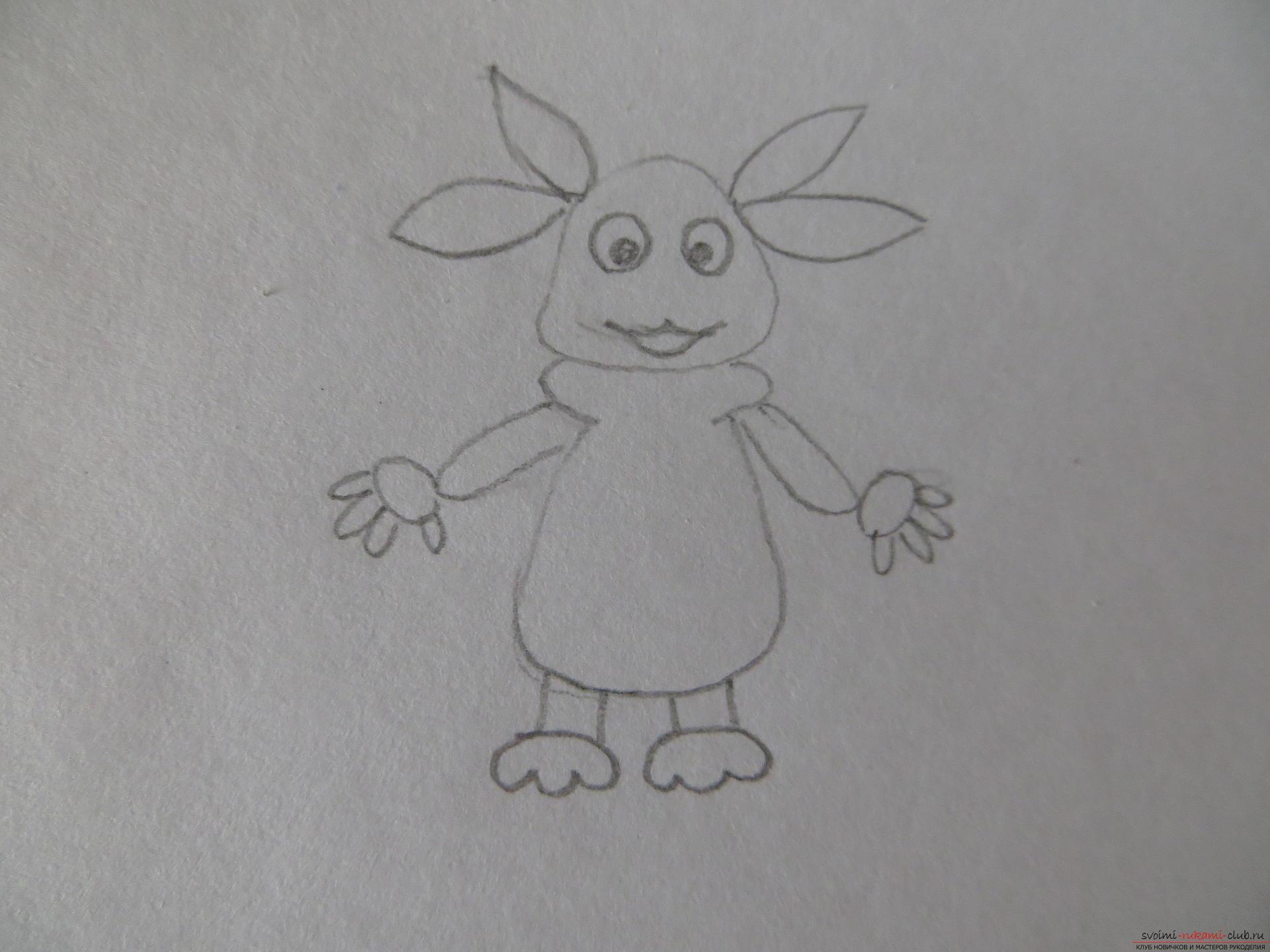 Этот мастер-класс рисования для детей расскажет как научиться рисовать Лунтика