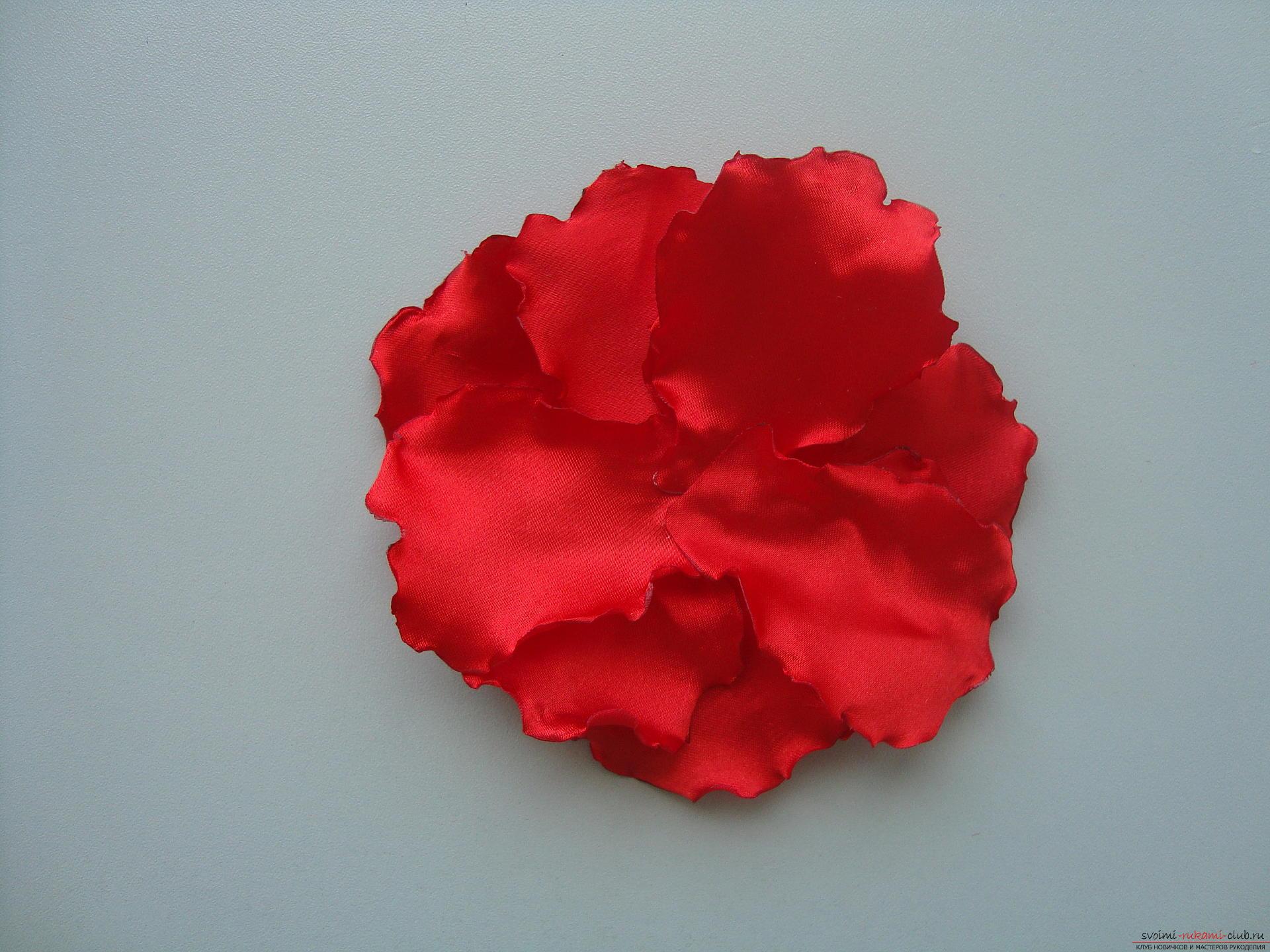 Цветы из ткани своими руками для 10