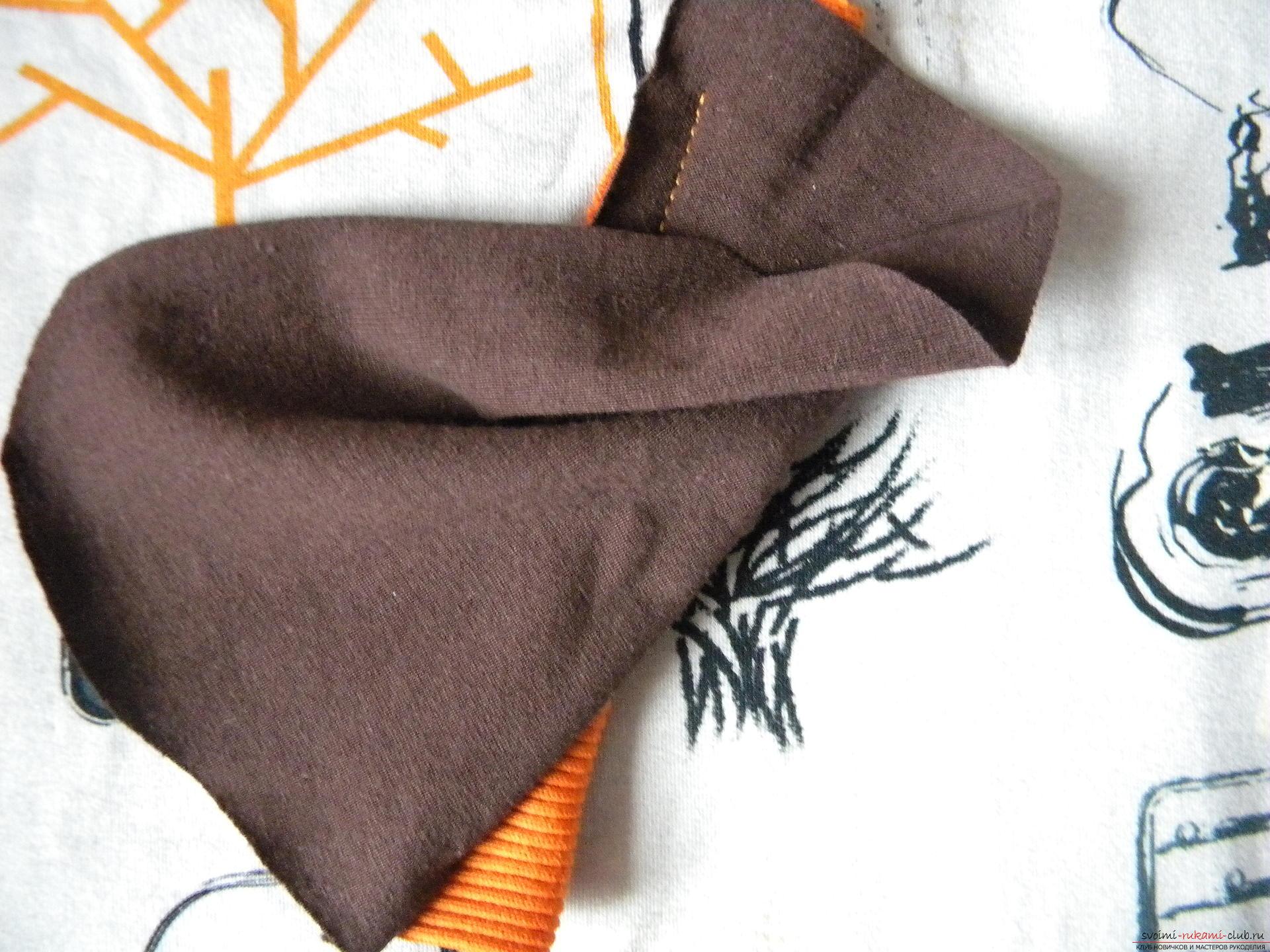 Мастер-класс по шитью научит как производится обработка карманов, делаем карман с листочкой.. Фото №7