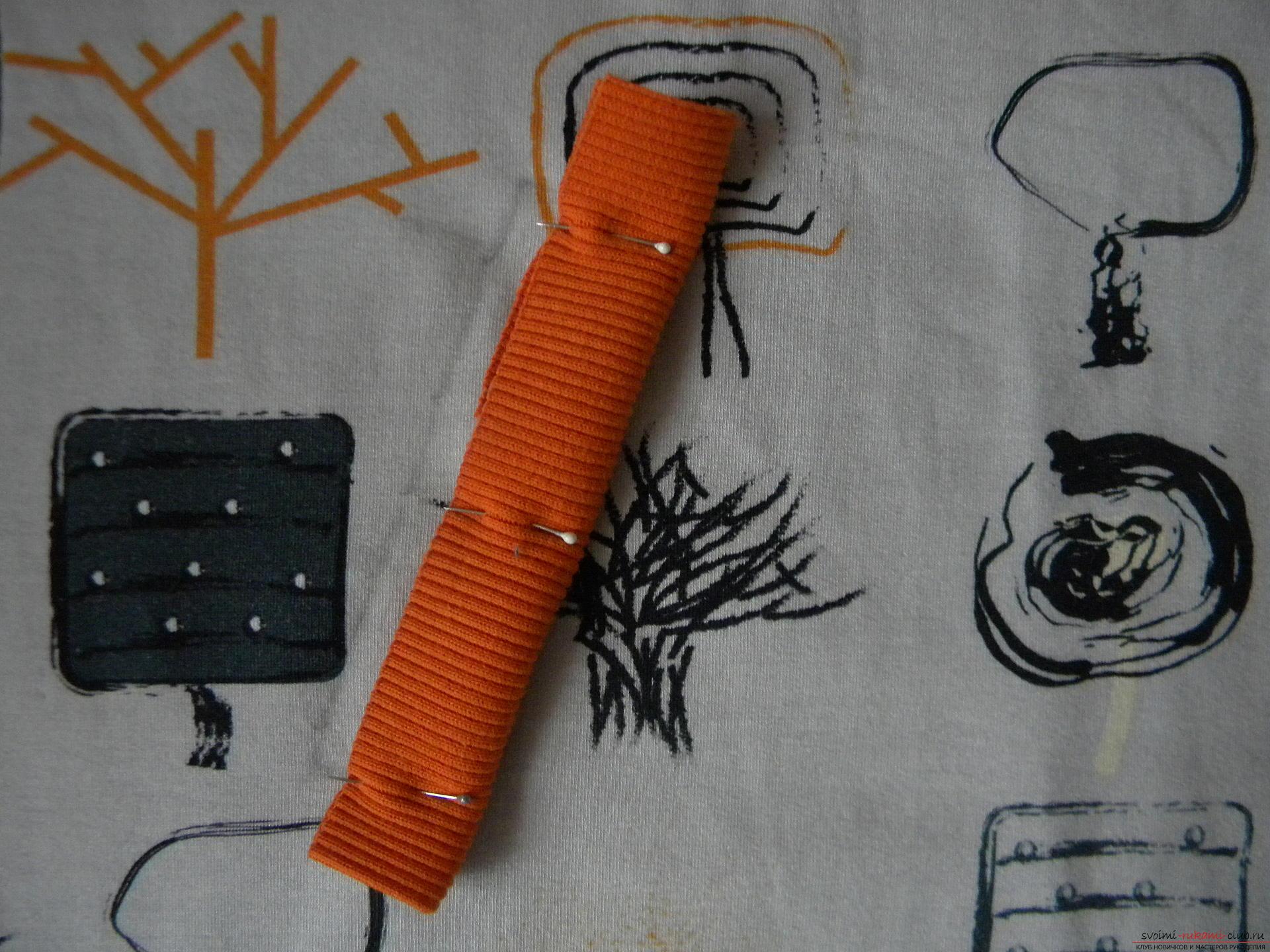 Мастер-класс по шитью научит как производится обработка карманов, делаем карман с листочкой.. Фото №4