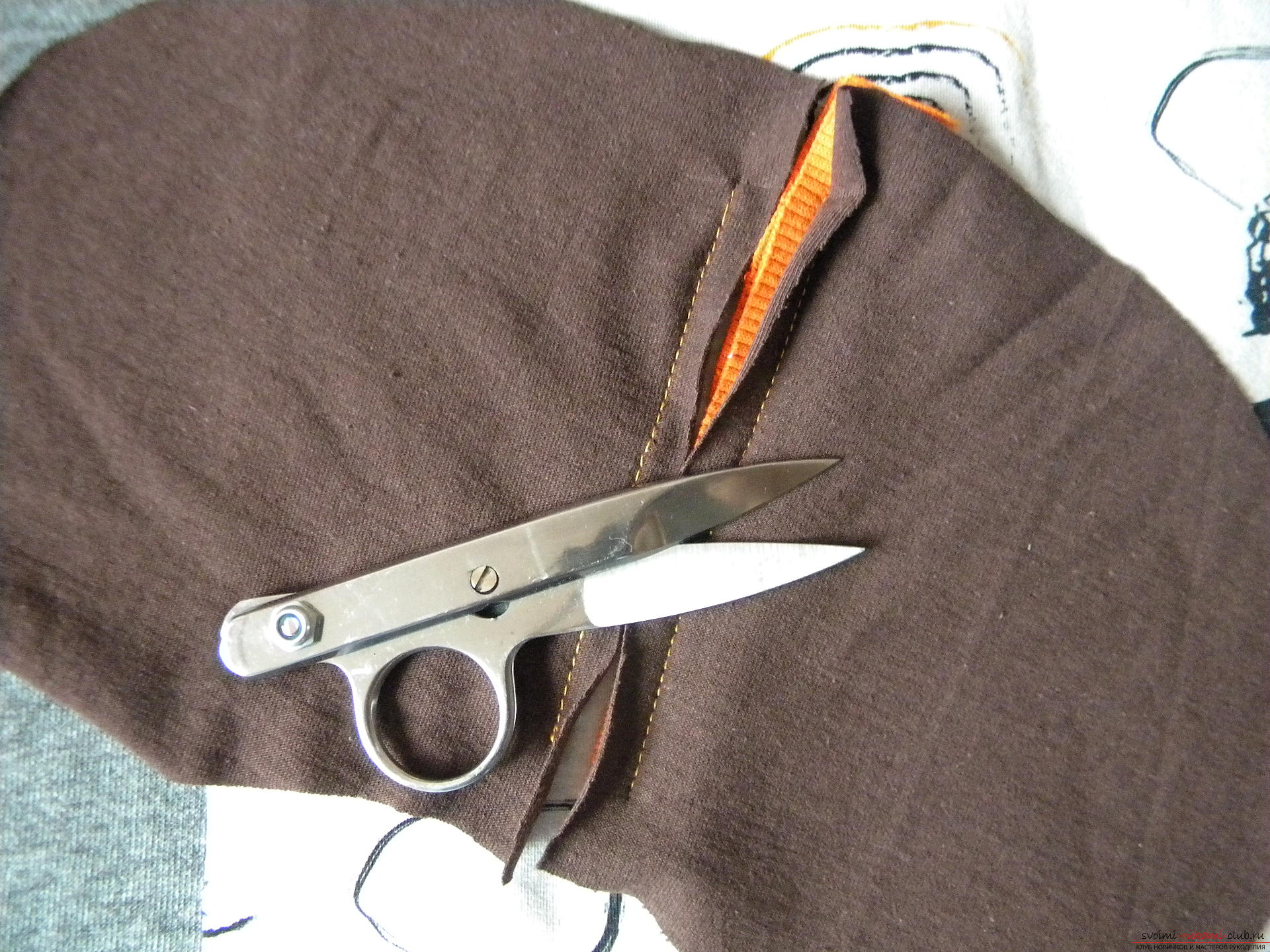 Мастер-класс по шитью научит как производится обработка карманов, делаем карман с листочкой.. Фото №9