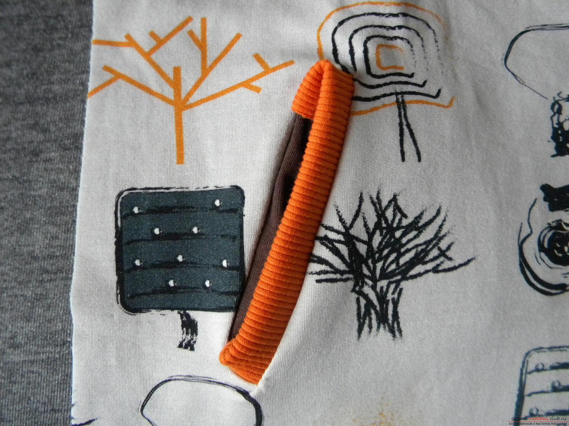 Мастер-класс по шитью научит как производится обработка карманов, делаем карман с листочкой.. Фото №11