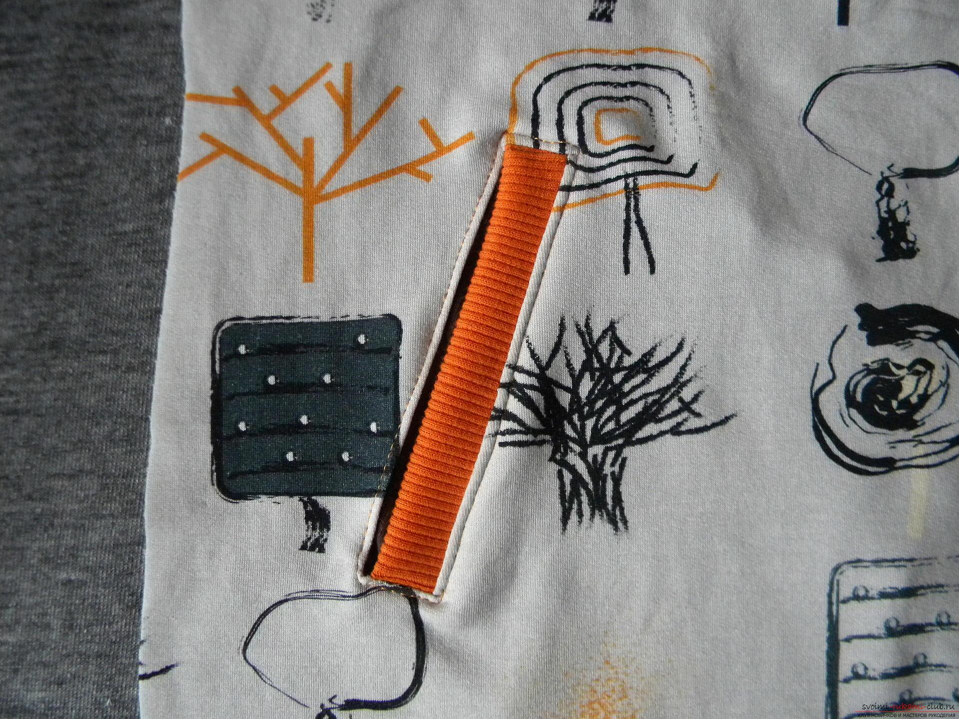 Мастер-класс по шитью научит как производится обработка карманов, делаем карман с листочкой.. Фото №17