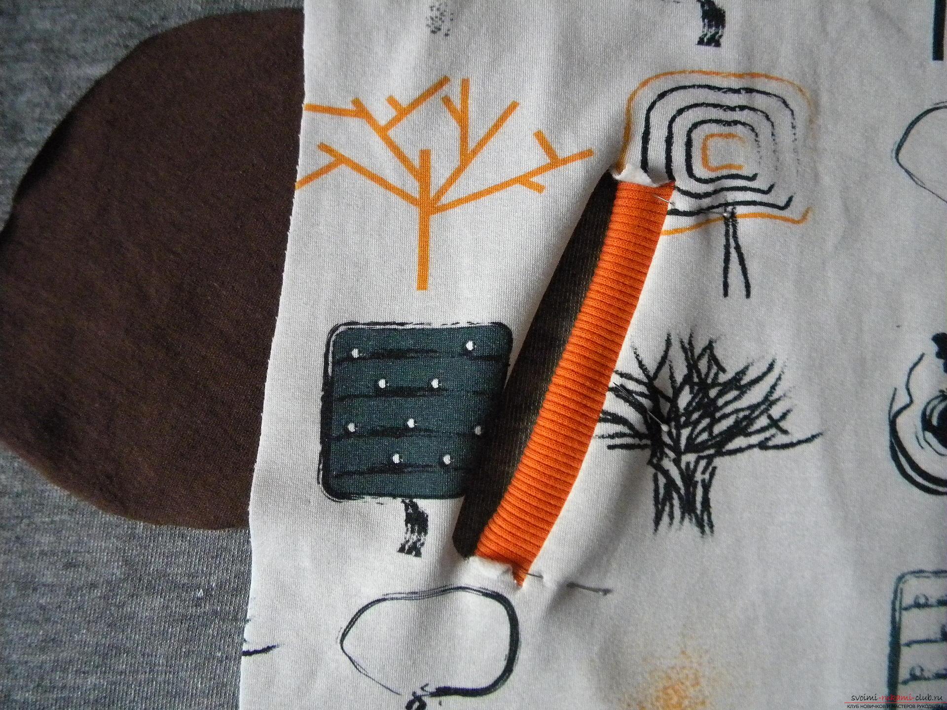 Мастер-класс по шитью научит как производится обработка карманов, делаем карман с листочкой.. Фото №12