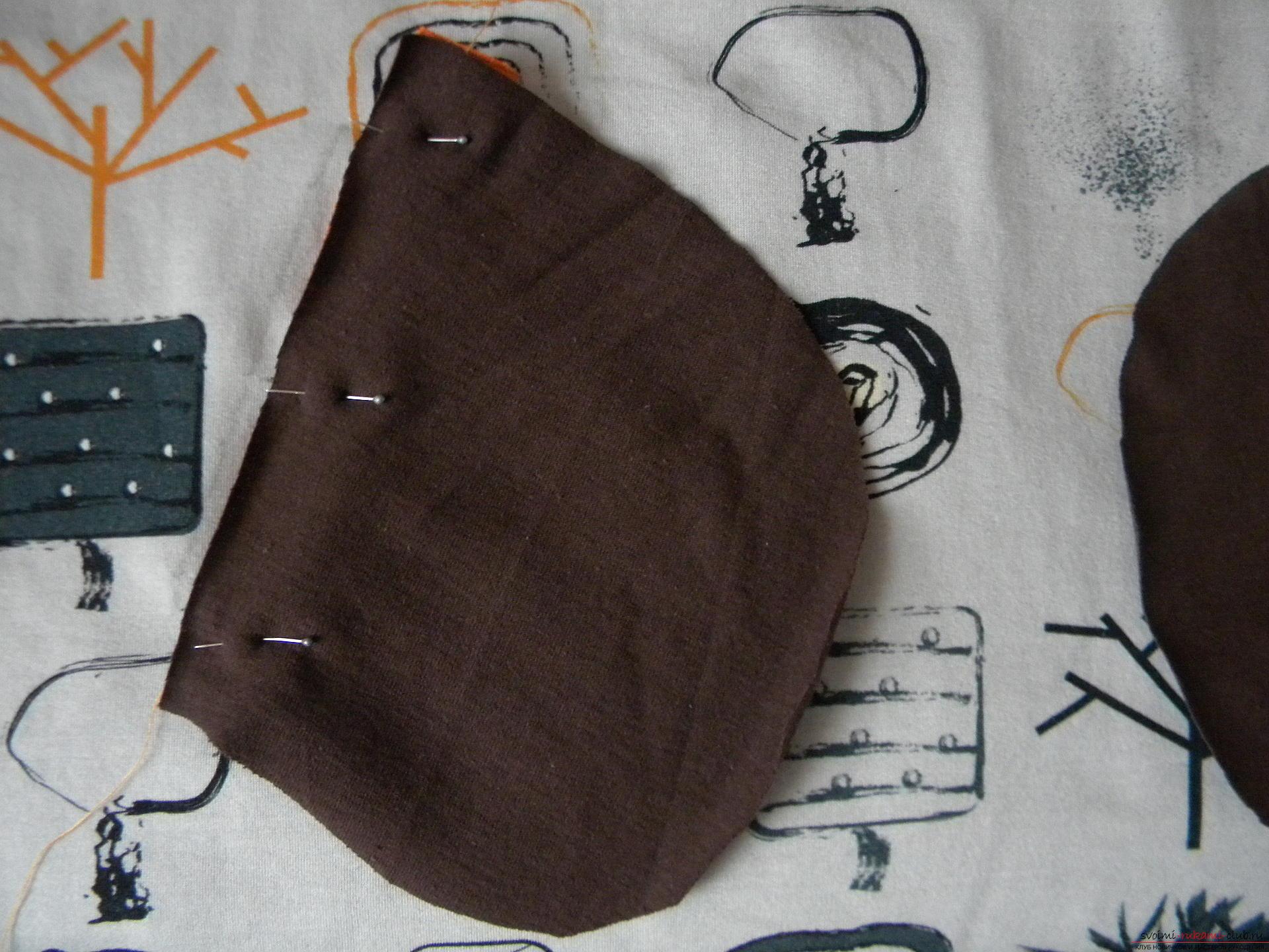 Мастер-класс по шитью научит как производится обработка карманов, делаем карман с листочкой.. Фото №6