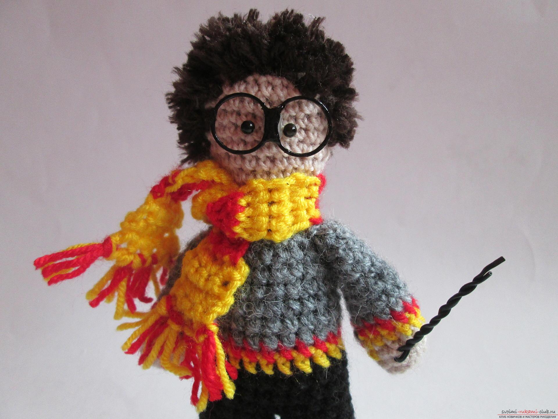 Подробный мастер-класс по вязанию крючком научит как делается Гарри Поттер своими руками.. Фото №15