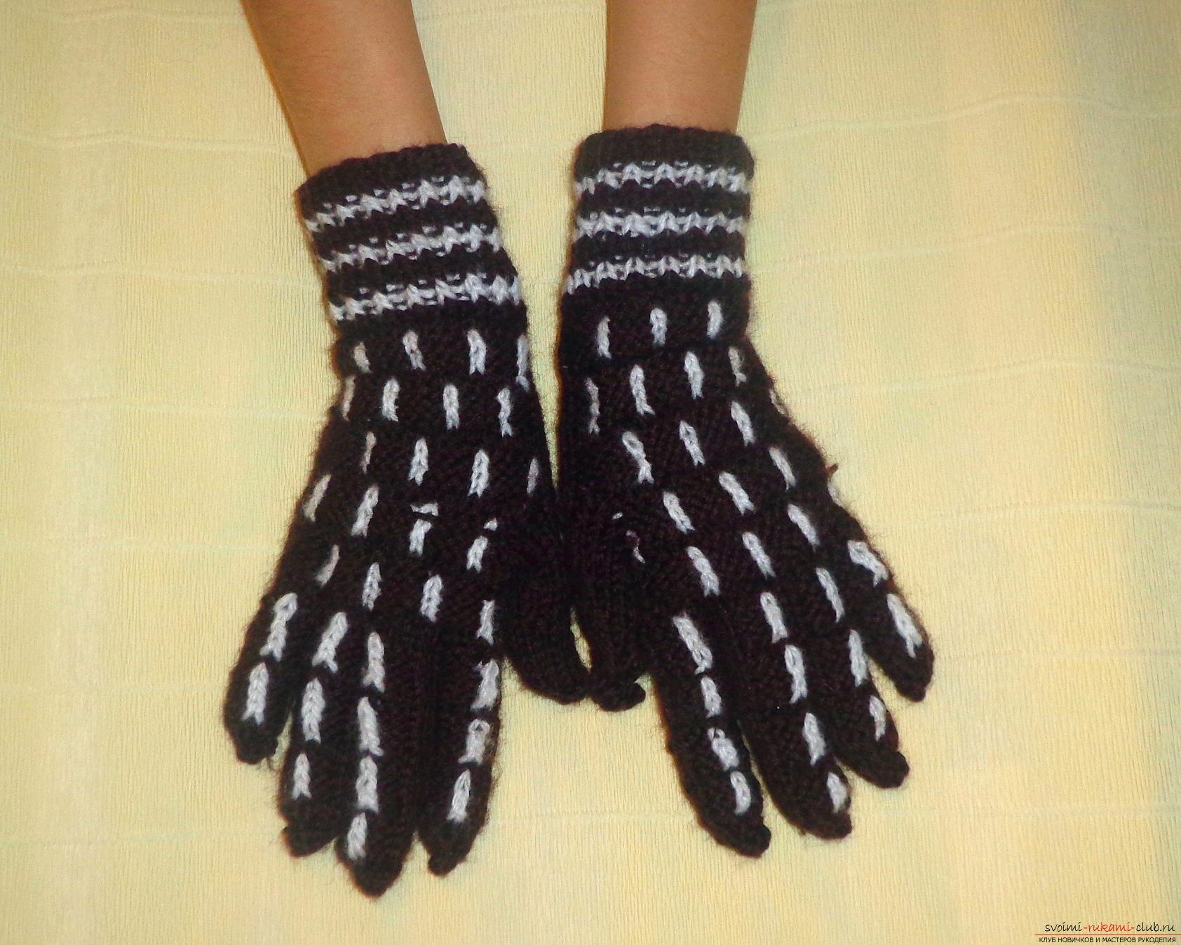 Мастер класс по вязанию перчаток 381