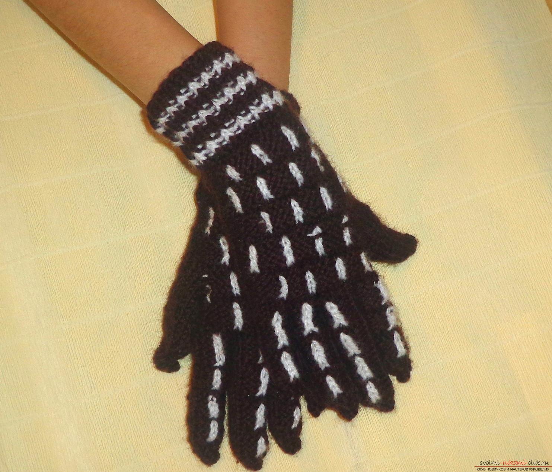 Мастер класс по вязанию перчаток 114