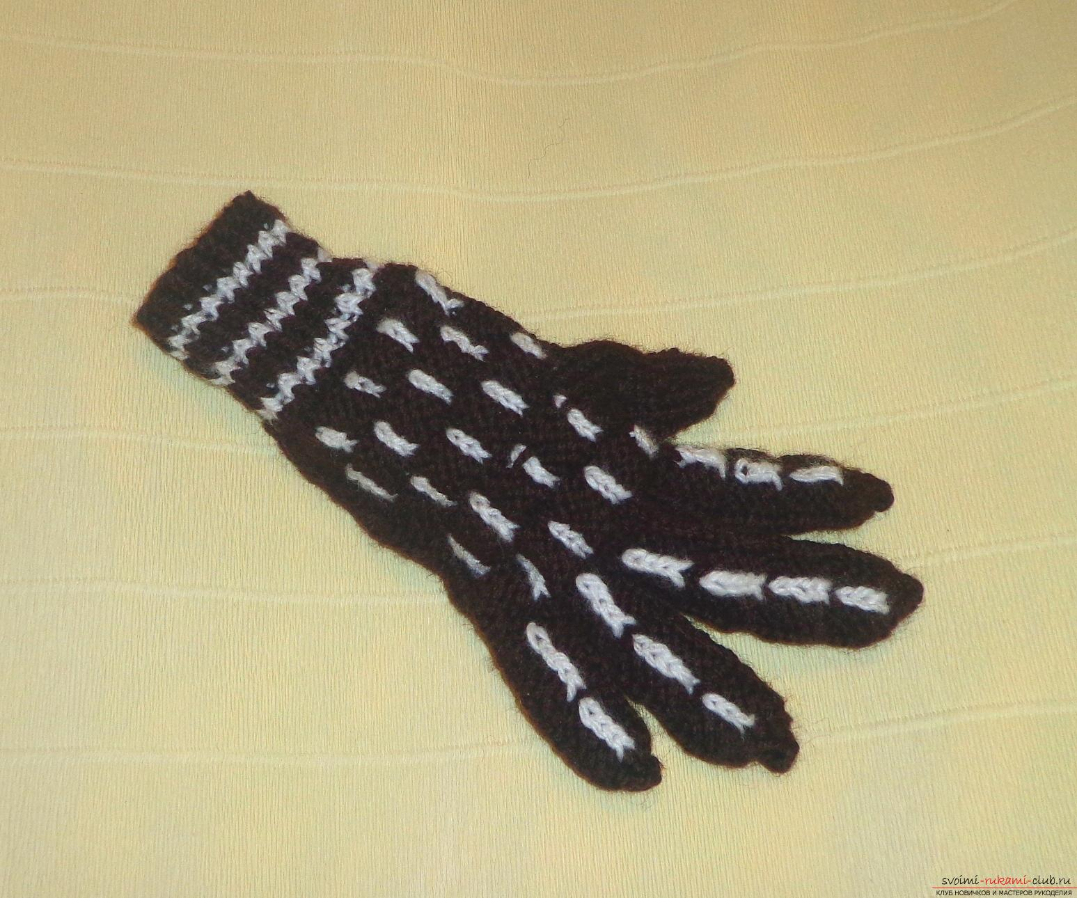 Мастер класс по вязанию перчаток 942