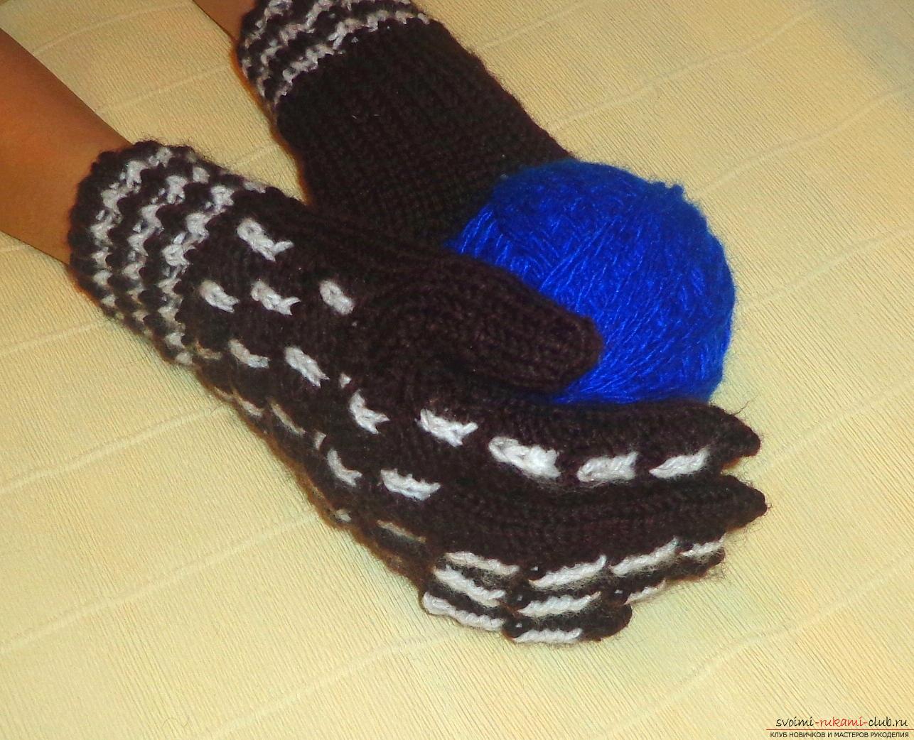 Мастер класс по вязанию перчаток 258