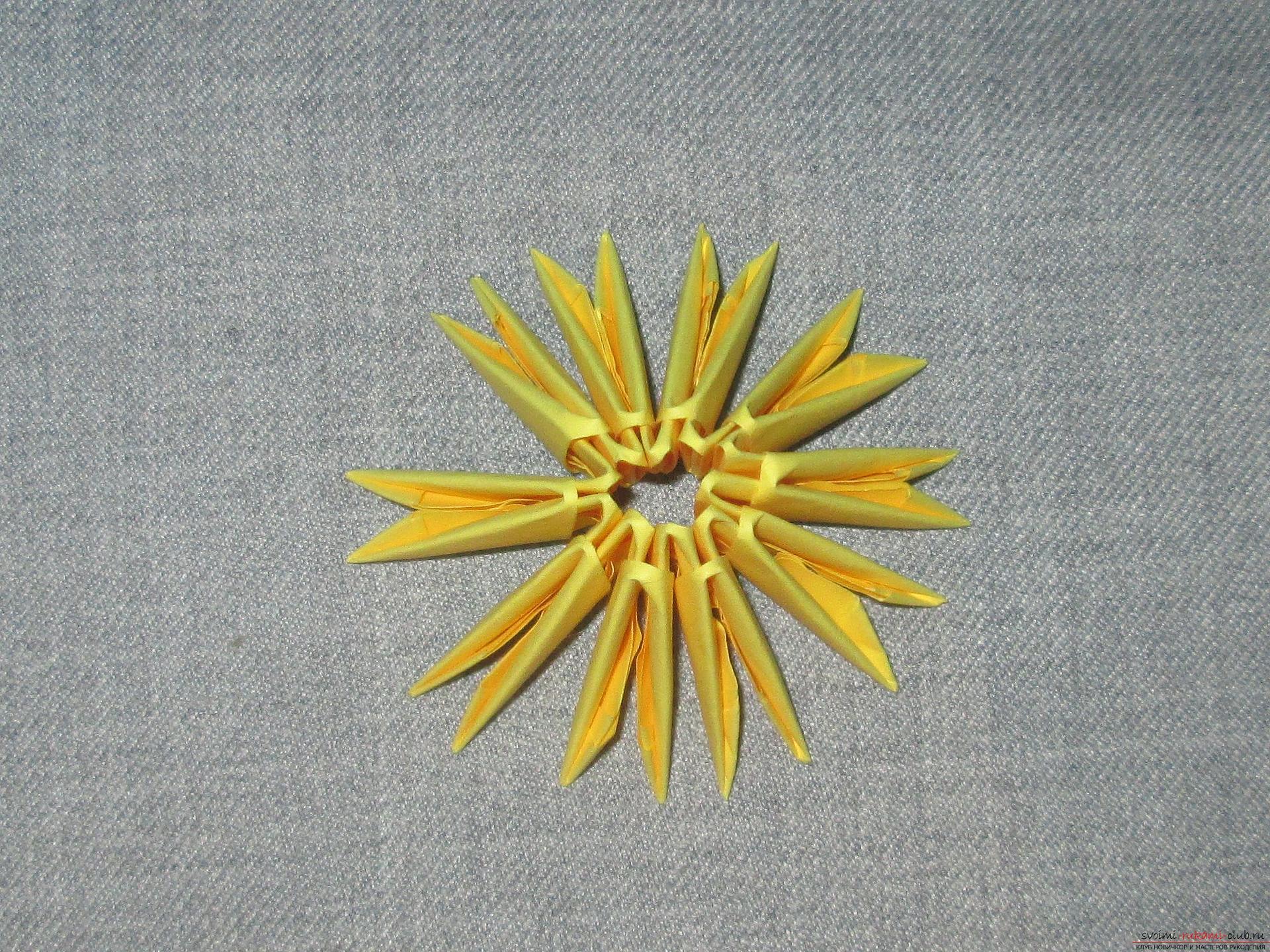 Мастер-класс с описанием и фото оригами своими руками – модульная обезьяна.. Фото №15