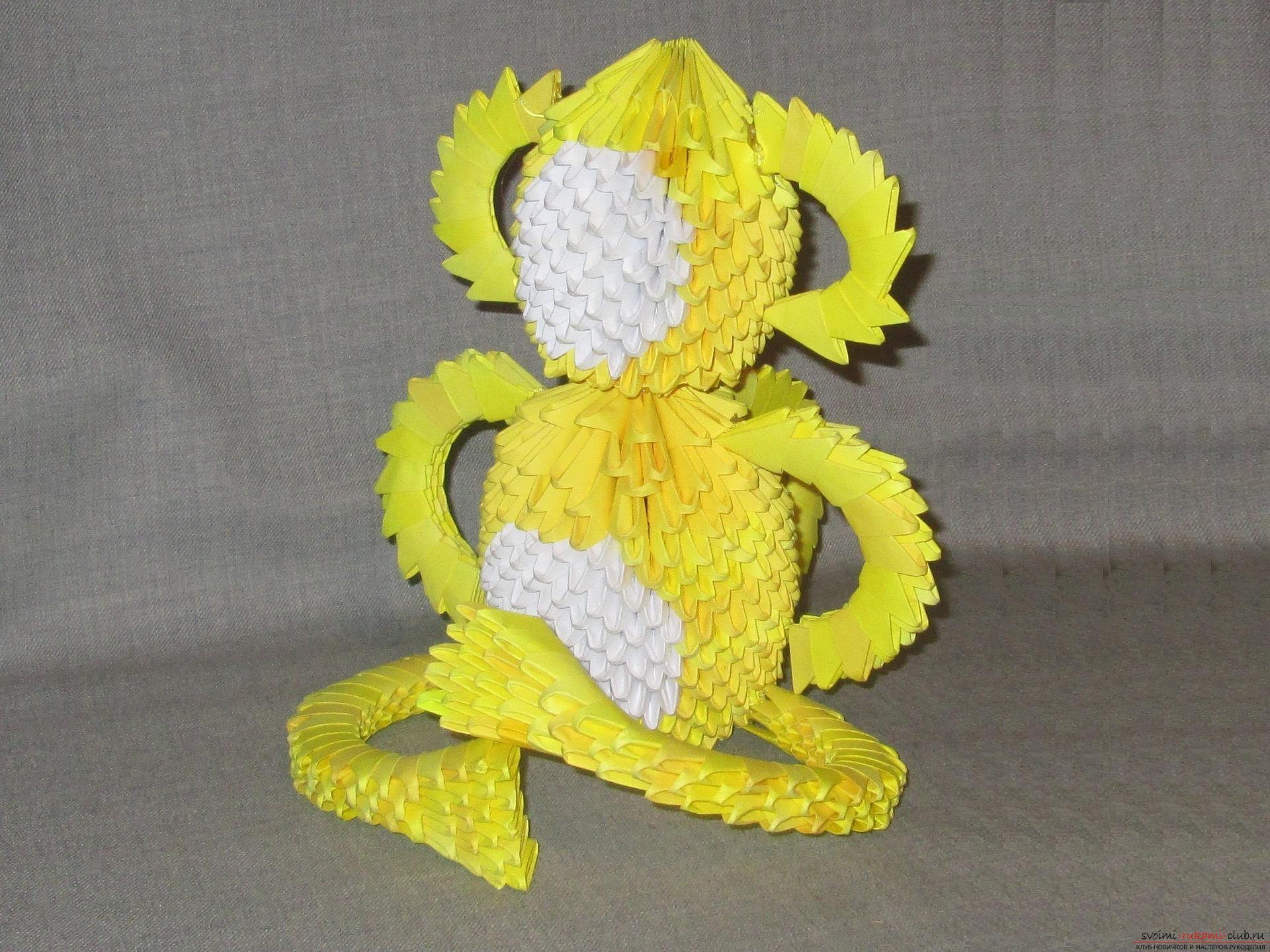 Мастер-класс с описанием и фото оригами своими руками – модульная обезьяна.. Фото №34