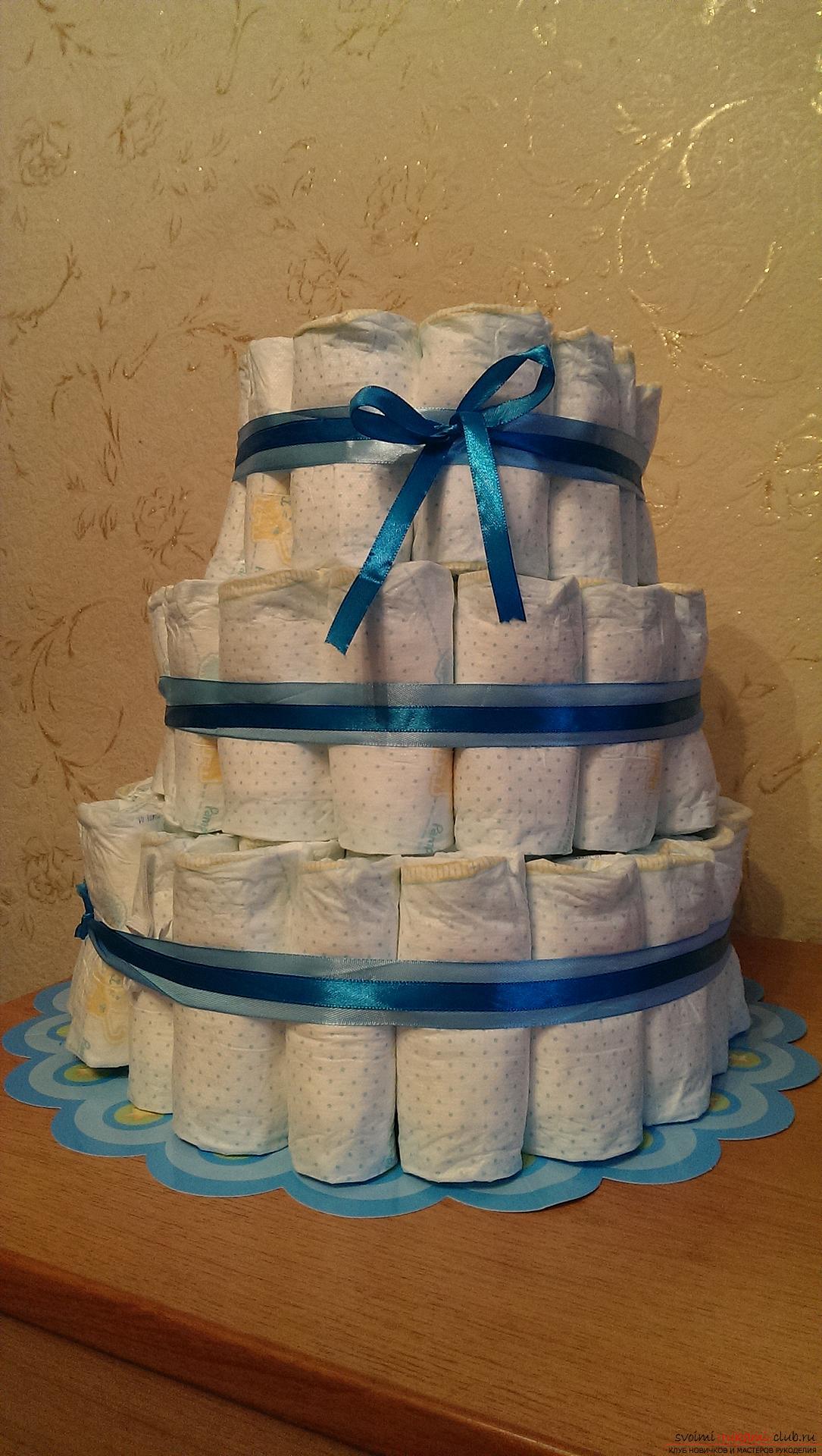 торт из памперсов своими руками пошагово фото оксисайз