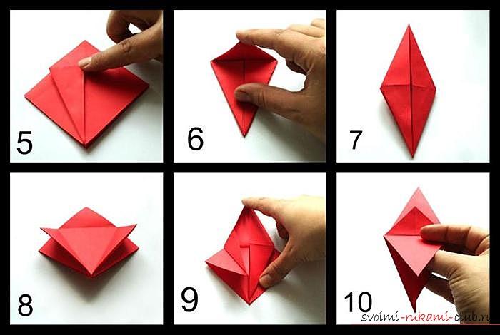 Оригами дракон, схема. Фото №2