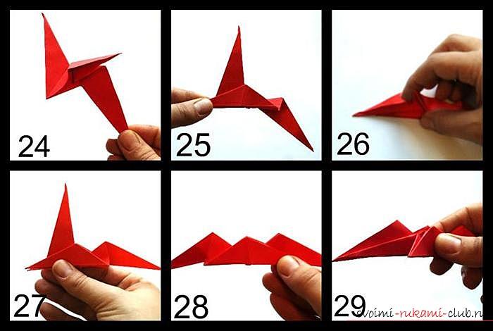 Оригами дракон, схема. Фото №6