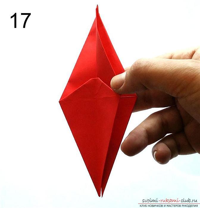 Оригами дракон, схема. Фото №4