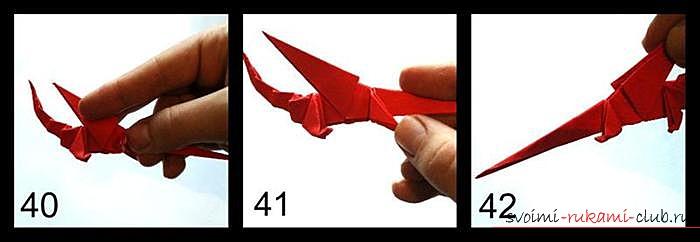 Оригами дракон, схема. Фото №9