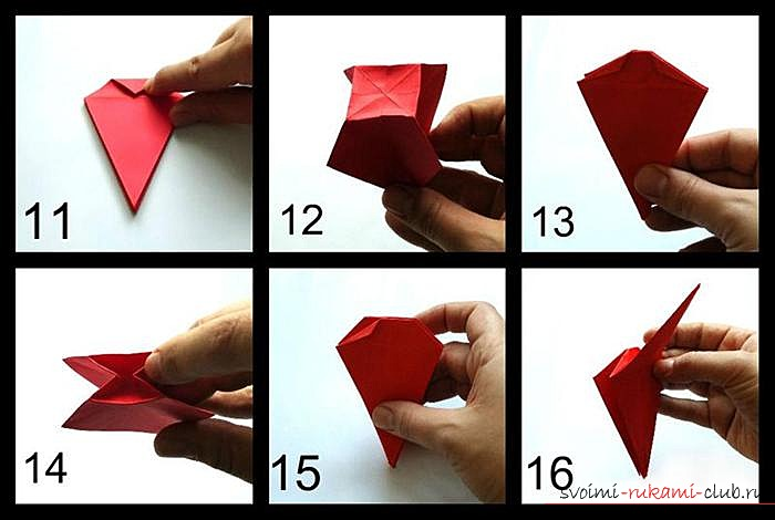 Оригами дракон, схема. Фото №3