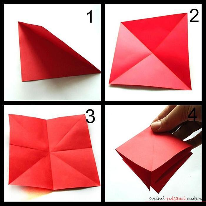 Оригами дракон, схема. Фото №1