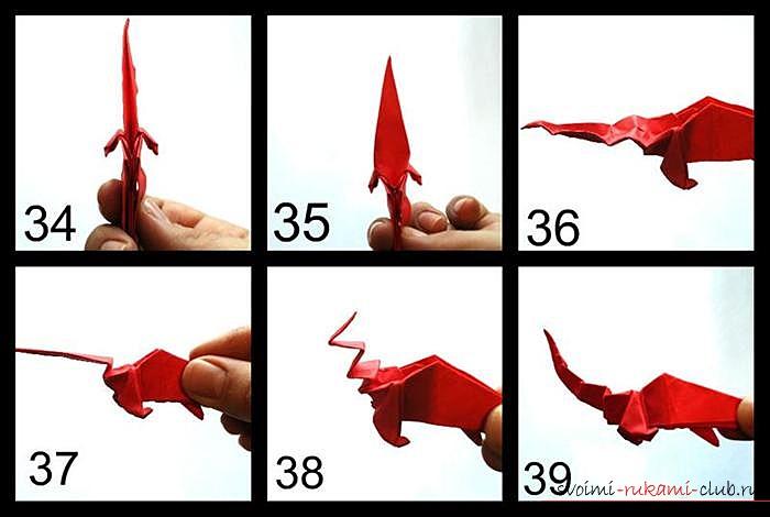 Оригами дракон, схема. Фото №8