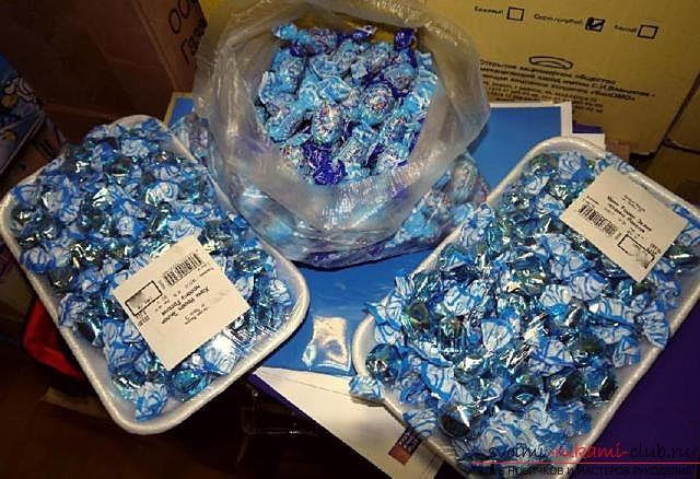Сделать кроша из конфет