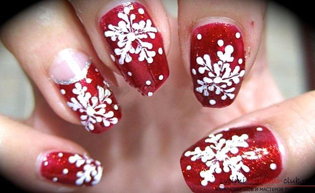 Оригинальный дизайн ногтей к Новогоднему празднику. Подробное описание и фото вариантов нанесения маникюра.