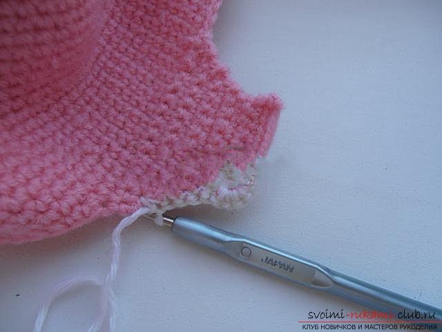 Вяжем шапочку для ребенка.. Фото №9