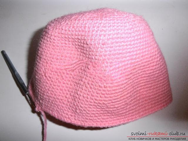 Вяжем шапочку для ребенка.. Фото №6