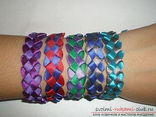 Плетем браслеты из лент своими руками. Фото №8