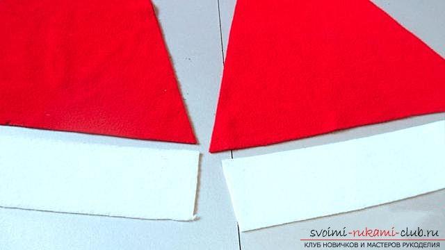 Шапка Деда Мороза, шаг за шагом. Фото №3