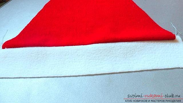 Шапка Деда Мороза, шаг за шагом. Фото №5