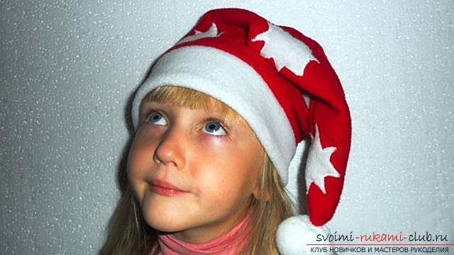 Шапка Деда Мороза, шаг за шагом. Фото №21