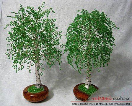 схема дерева из бисера.