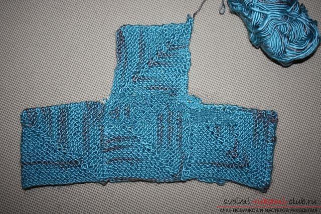 Вяжем свитер спицами. Фото №28