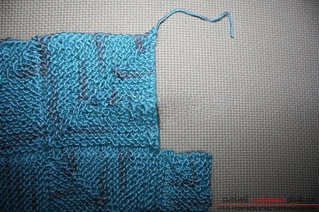 Вяжем свитер спицами. Фото №30