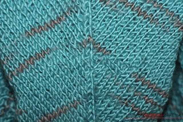 Вяжем свитер спицами. Фото №35