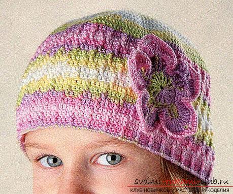 Вязание летней шапочки для девочки крючком