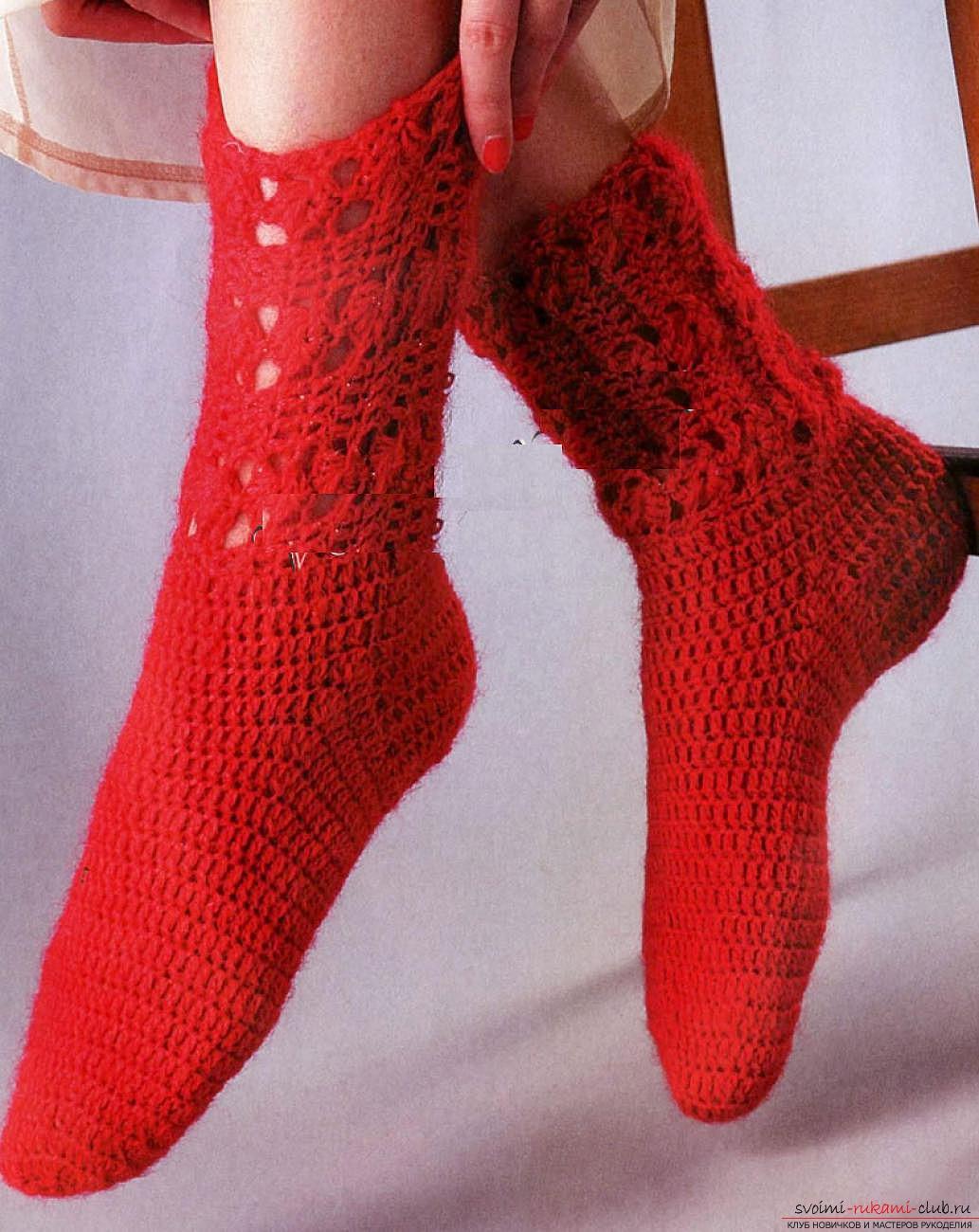 Носки для девочки своими руками