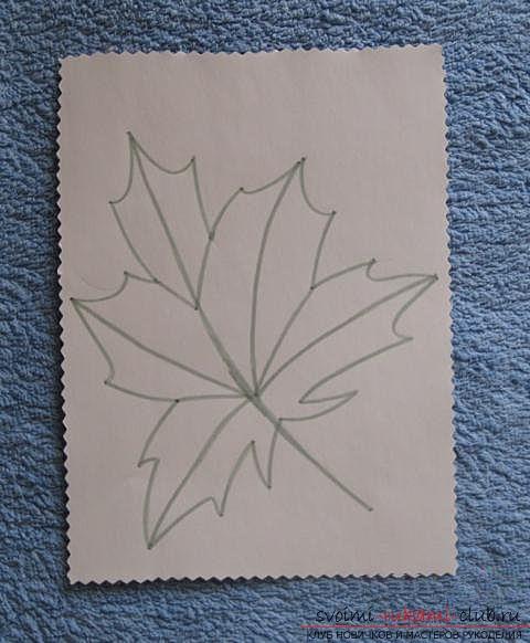 Вышиваем осенний лист в технике «изонить». Фото №10